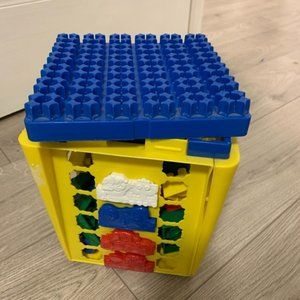 Mega blocks with storage basket toy for toddlers